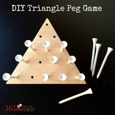 DIY Triangle Peg Board Game
