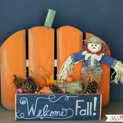 DIY Rustic Pumpkin Stand