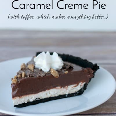 Chocolate Caramel Creme Pie