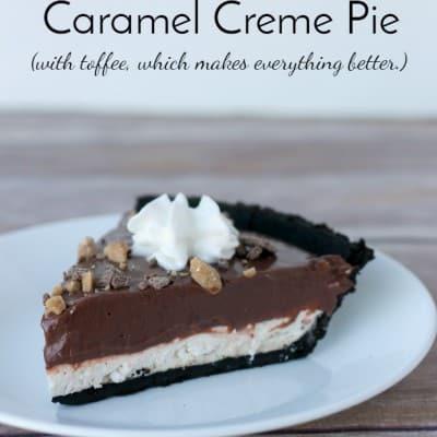 Chocolate Caramel Creme Pie