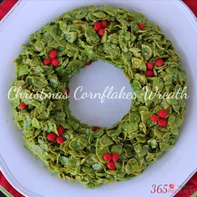 Christmas Cornflakes Wreath perfect for Christmas parties