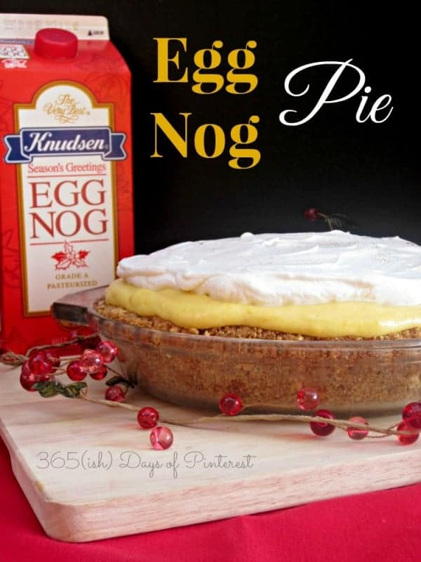 This eggnog pie is perfect for Christmas dessert! It's an easy, no-bake pie that can be made in advance. Creamy and rich with a buttery crust-it's perfect! via @nmburk