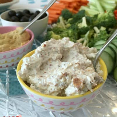 One of the easiest things to put together for a party, this vegetable dip will be the star of your veggie tray!