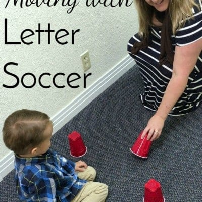 Combine movement and gross motor skills with a fun alphabet game and you get Letter Soccer! Lots of variations make this a great preschool activity.