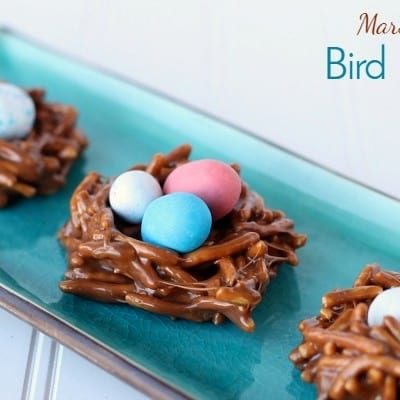 Marshmallow Bird Nest Cookies