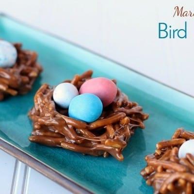 Marshmallow Bird Nest Cookies