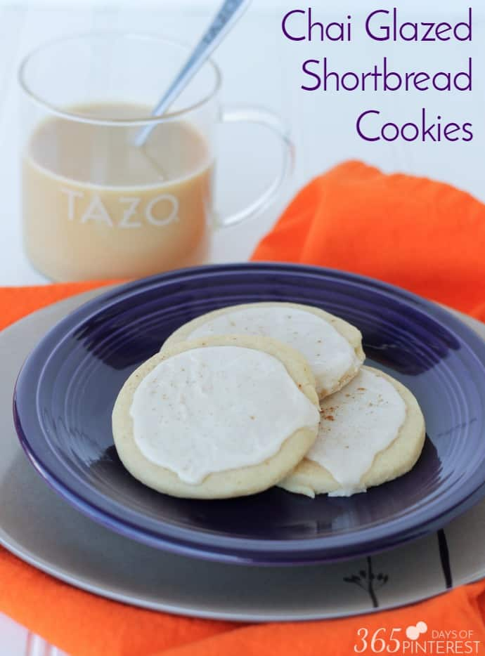 Chai Glazed Shortbread Cookies - 365ish Days of Pinterest
