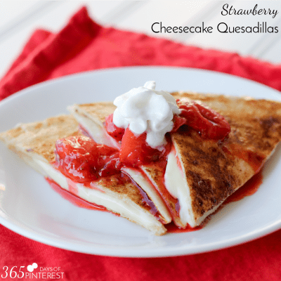 Cheesecake Quesadillas