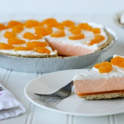 Orange Creamsicle Pie: easy no bake dessert