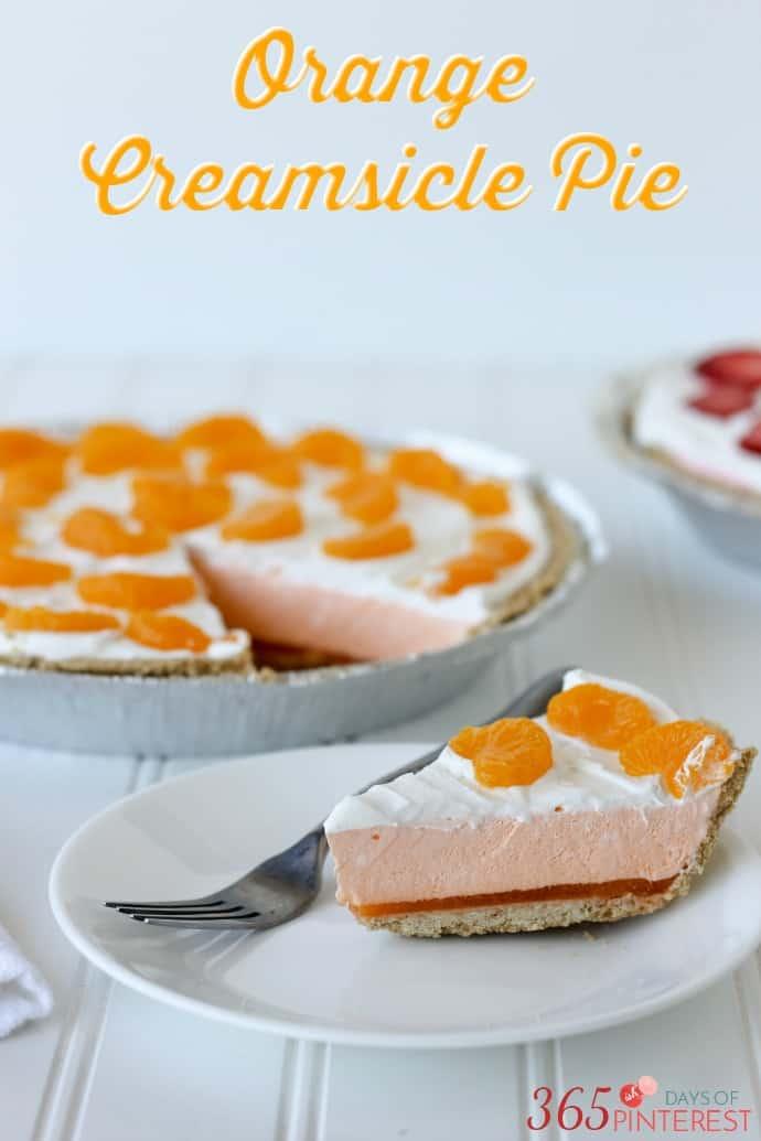 orange creamsicle pie labeled