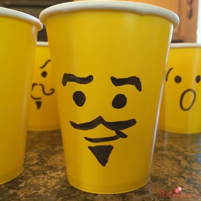 lego mini figure cup heads