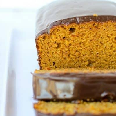 Pumpkin Bread with Chocolate Ganache