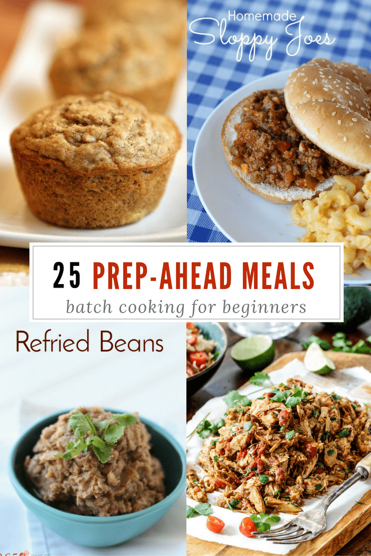 Meal prep menu batch cooking for beginners 365ish days of pinterest