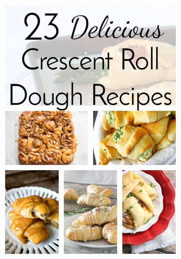 Crescent roll dough is one of the most versatile ingredients for both savory and sweet recipes! This collection of 23 recipes using the dough is fantastic! You're sure to find an idea for an easy weeknight dinner or quick dessert. via @nmburk