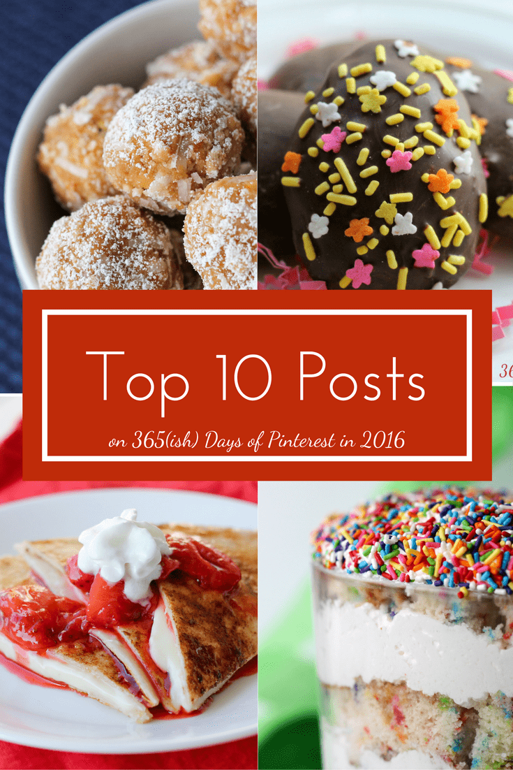 Desserts, easy dinner recipes, useful cleaning tips and clean eating treats-find them all in this year's top ten posts. via @nmburk