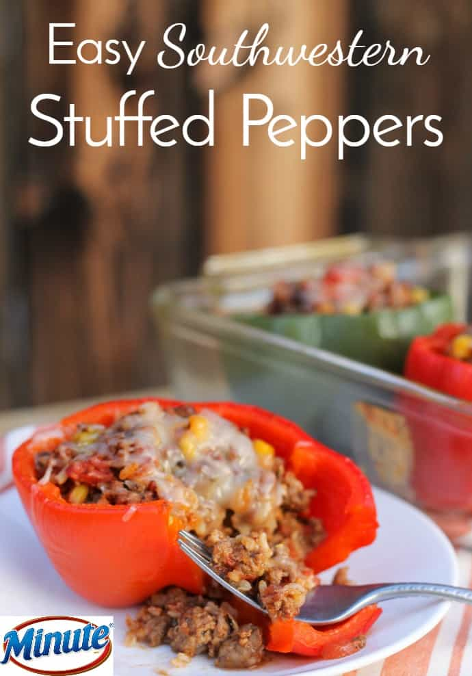 red southwestern stuffed pepper with forkful of filling