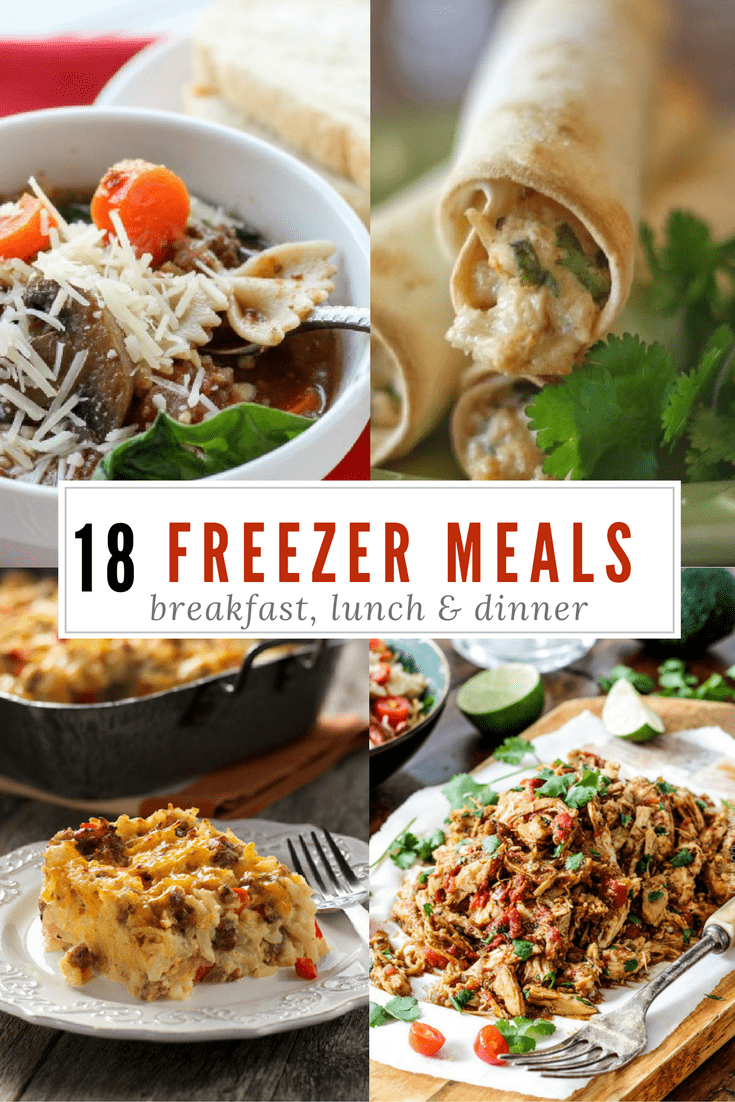 18 tried and true freezer meals that your family will actually eat! No bland, mushy dinners here. My family LOVES the taquitos! via @nmburk