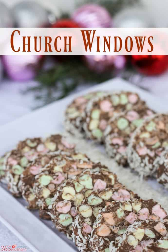 Dress up the dessert table or cookie exchange with this colorful treat! Church Windows are a holiday tradition that everyone can enjoy. via @nmburk