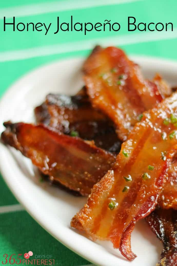 Sweet, smoky and spicy, Honey Jalapeno Bacon is the perfect snack for watching football. It's basically candy with protein. via @nmburk