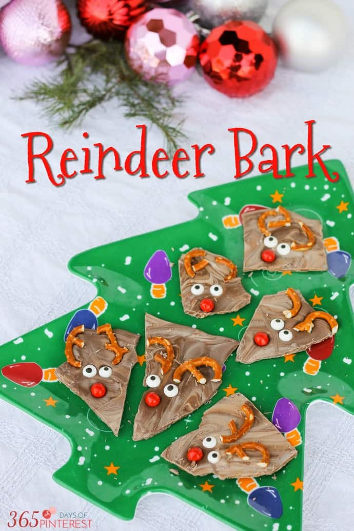 A quick and easy dessert, Reindeer Bark is a great recipe for Christmas. It's perfect for the kids! via @nmburk