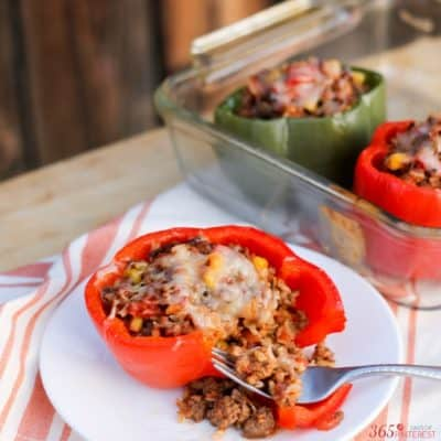 Brighten your table with holiday colors when you serve Southwestern Stuffed Peppers! It's the perfect comfort food for chilly winter nights.