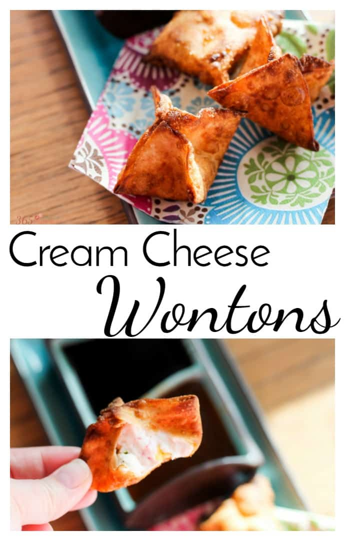 Put down the Chinese take out menu and try making your own Cream Cheese Wontons at home. appetizer | Crab Rangoon | takeout | Chinese food via @nmburk