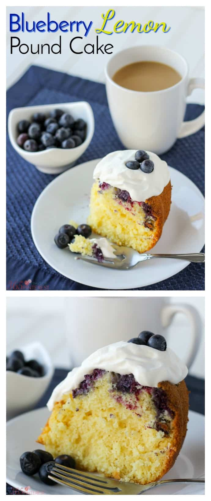 This Blueberry Lemon Pound Cake is quick and easy because it starts with a cake mix. But don't worry, no one will know! via @nmburk