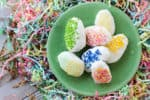 You don't need the Easter bunny when you can make your own (way better) Chocolate Chip Cookie Dough Easter Eggs with this edible cookie dough recipe and some festive decorations!
