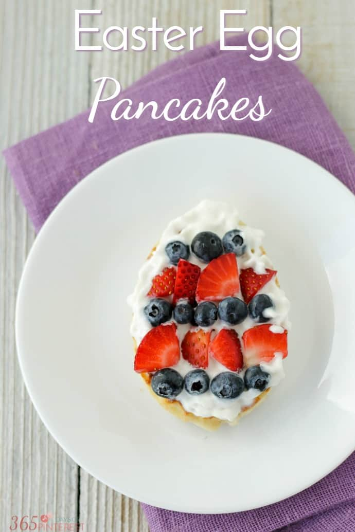 Looking for a last minute idea for Easter breakfast? Easter Egg Pancakes are easy to make and covered in fresh fruit! via @nmburk