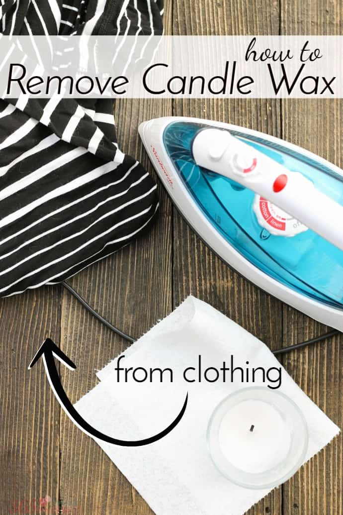 Stop. Before you do anything else, if you have a melted mess to clean up, read this quick tutorial on how to remove candle wax from clothing FIRST. via @nmburk