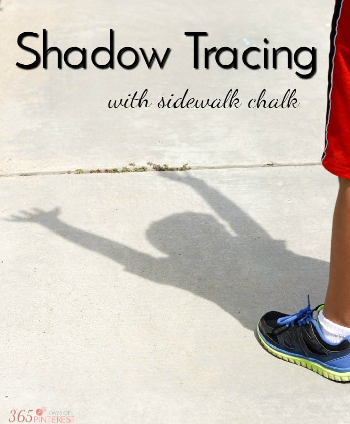 shadow tracing with sidewalk chalk