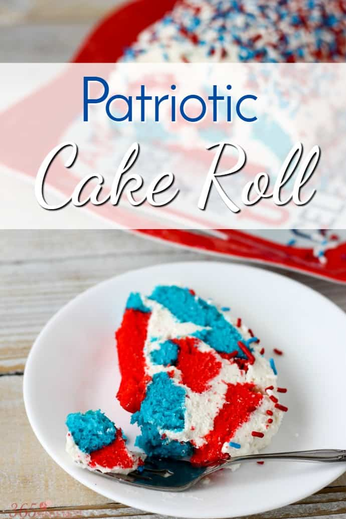Patriotic Cake Roll Simple And Seasonal