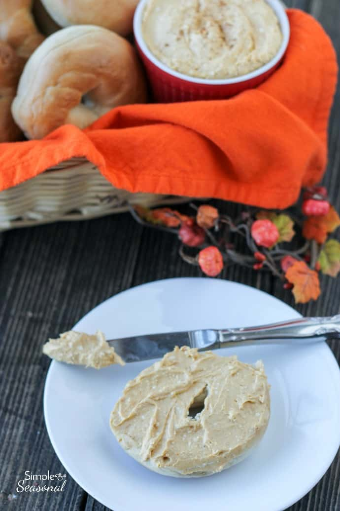 Pumpkin Cream Cheese Spread Easy Holiday Breakfast