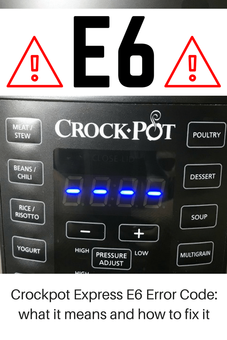Crockpot Express E6 Error