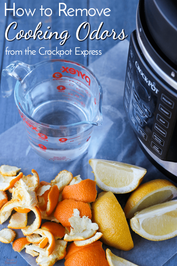 This all-natural cleaner will deodorize and sanitize your pressure cooker so your monkey bread doesn't take like chili. Learn how to remove cooking odors from the Crockpot Express (or other pressure cooker) and keep food tasting great! #CrockpotExpress #InstantPot #PressureCooker #CleaningTip via @nmburk