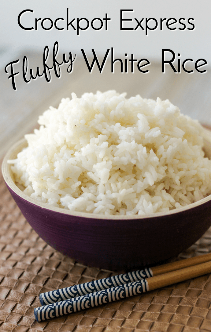 Fluffy white rice in a bowl | How to cook fluffy white rice in the Crockpot Express