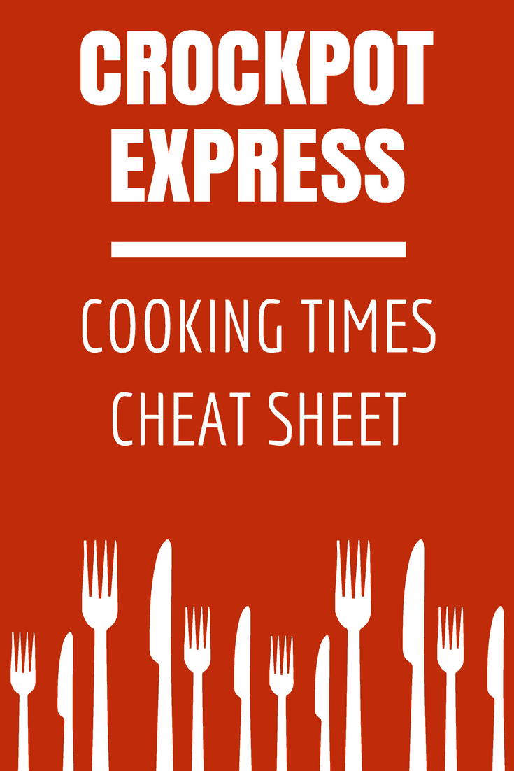 Download a free printable PDF listing general Crockpot Express Cooking Times guidelines for commonly served meats like beef, chicken and pork. Print it out and hang it up in your kitchen for easy reference! #CrockpotExpress #CPE #PressureCooking #Printable via @nmburk