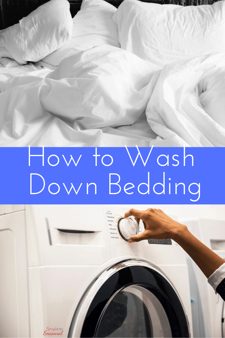Decorative feather pillows or soft down bedding can feel great until you get the cleaning bill! Learn how to wash feather pillows and down bedding at home or your local laundromat.  via @nmburk