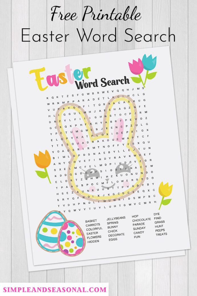 It's just a graphic of Free Printable Easter Word Search within kids