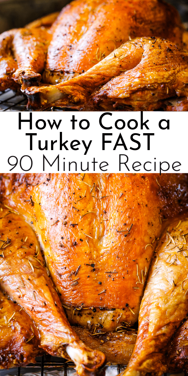 With golden, crispy skin and tender, juicy meat, this 90 minute turkey recipe takes the stress out of Thanksgiving! via @nmburk