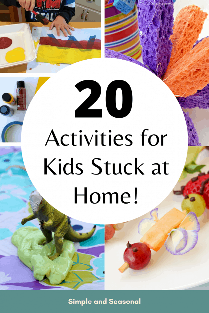 Looking for more ideas to keep the kids busy? All of these activities for kids require minimal prep time, supplies and effort. Plus, they are super fun!  via @nmburk