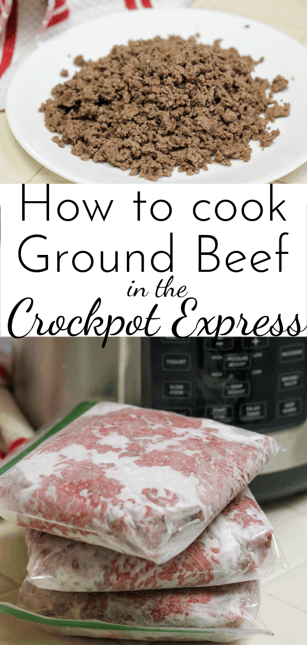 Go from frozen to ready to eat in just minutes after cooking ground beef in the Crockpot Express! (Including how to cook hamburger patties!) via @nmburk