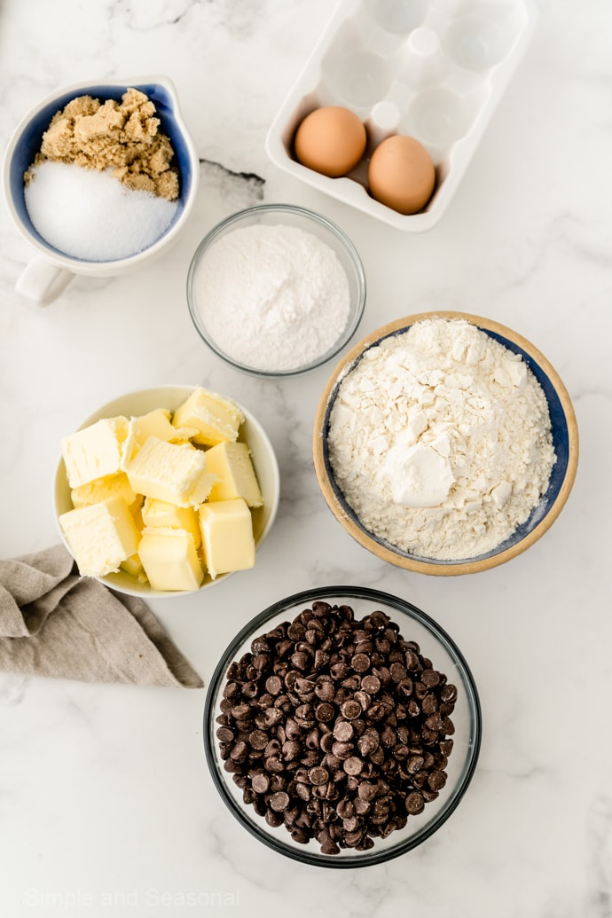 chewy chocolate chip cookie ingredients