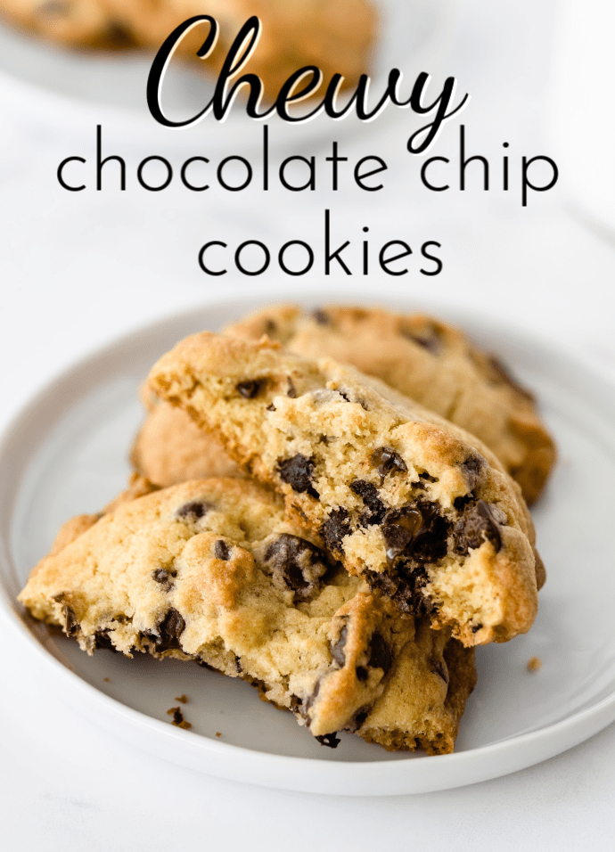 The addition of one special ingredient makes these chewy chocolate chip cookies a soft and tasty treat! via @nmburk