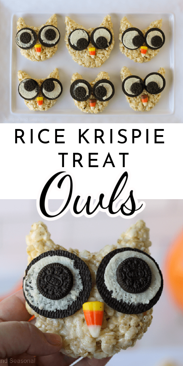 Rice Krispie Treat Owls are fun to make and easy to customize with your favorite candies!  via @nmburk