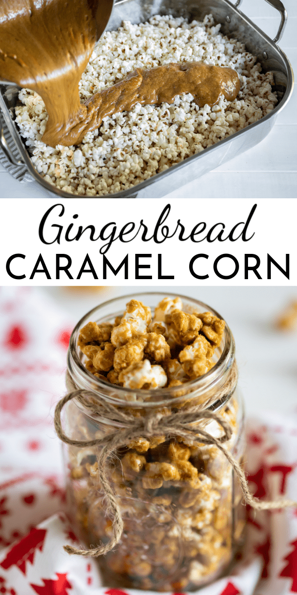 Curl up with your favorite Christmas movie and a bowl of Gingerbread Caramel Corn. It's the perfect holiday snack! via @nmburk