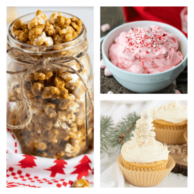collage of 3 christmas recipes