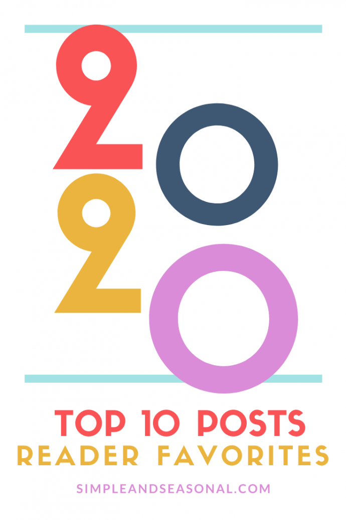 A look back at the 10 most popular posts on Simple and Seasonal for the year 2020 via @nmburk