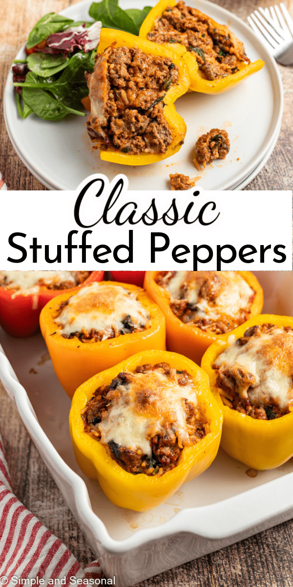 We can all use more quick and easy dinner ideas, right? If you haven't made classic stuffed peppers before, you're going to be wowed by how simple they are to prepare and how delicious they taste. via @nmburk